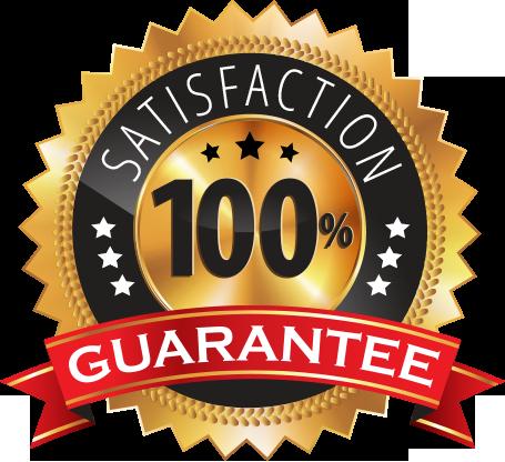 100% satisfaction guarentee